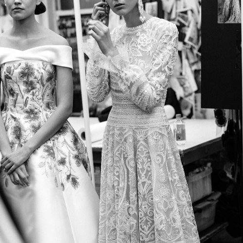 Coulisses défilé New York Bridal Week collection 2017