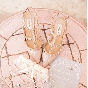 Chaussure mariage cloutée Valentino