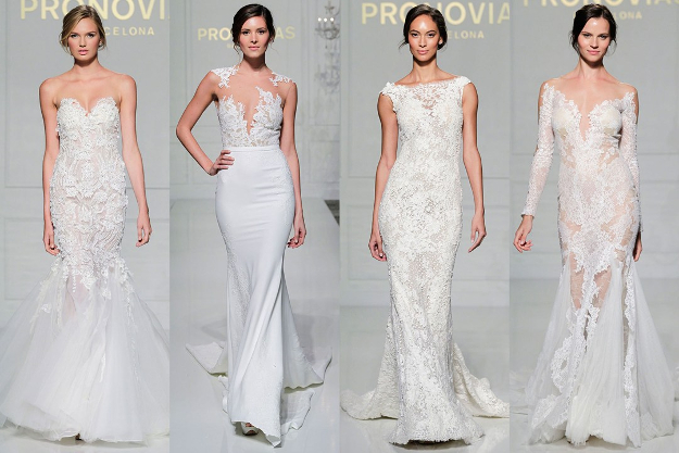 Robes de mariée Automne 2016 par Pronovias. Bridal Week de New-York